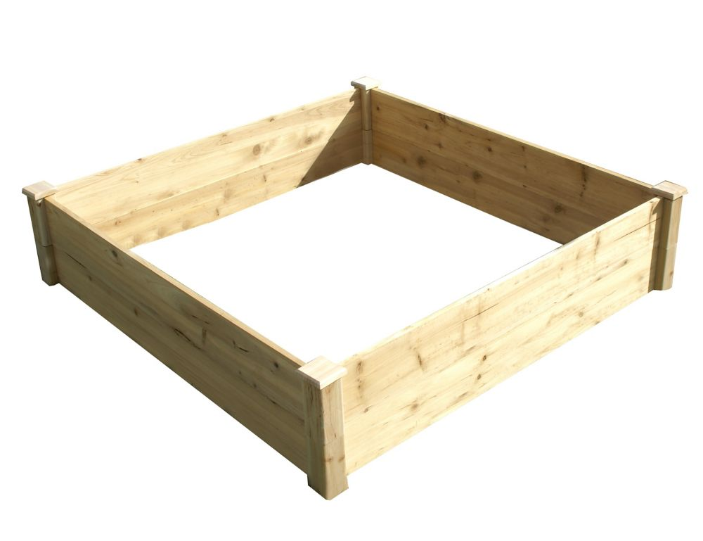 Quick Assembly Raised Garden Bed (4 ft. X 4 ft. X 11 inch)