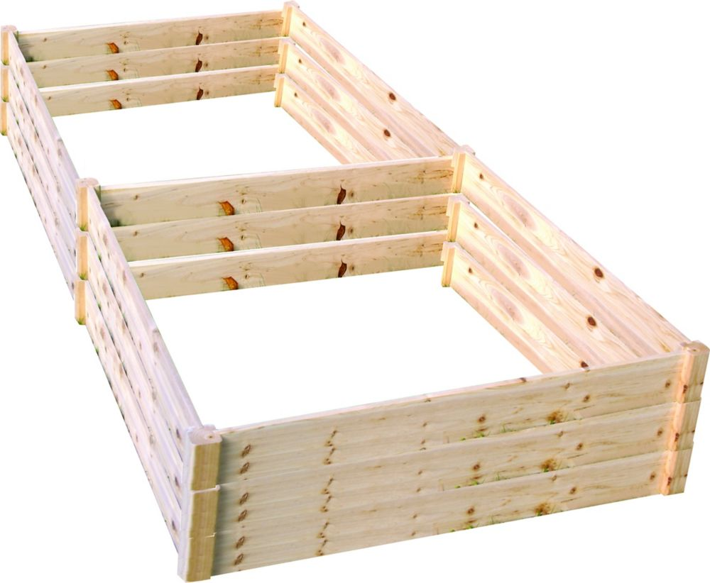 Quick Assembly Raised Garden Bed (4 ft. X 8 ft. X 17.5 inch)