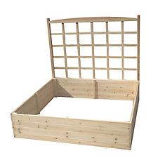 Raised Garden Bed With Trellis (4 ft. X 4 ft. X 11 inch ) W/ 44 inch Trellis