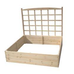 Eden Raised Garden Bed With Trellis (4 ft. X 4 ft. X 11 inch ) W/ 44 inch Trellis