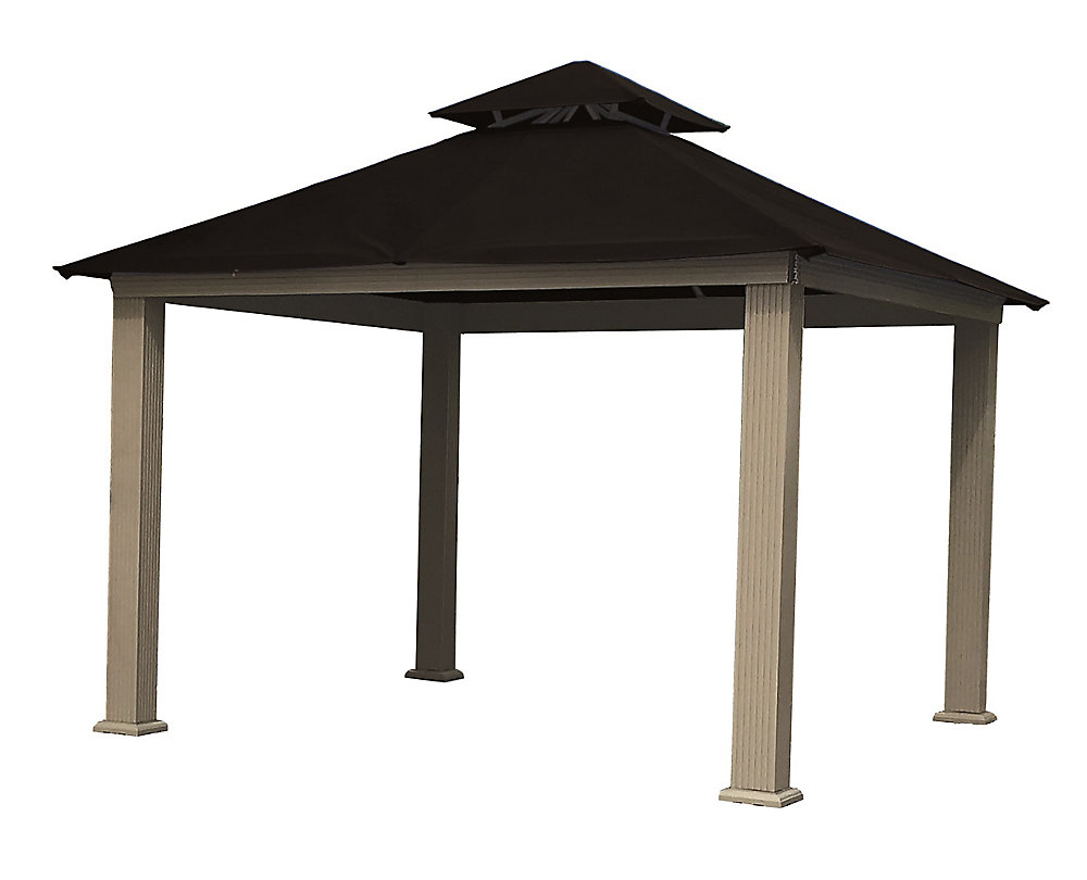 12 ft. Sq. Gazebo -Black