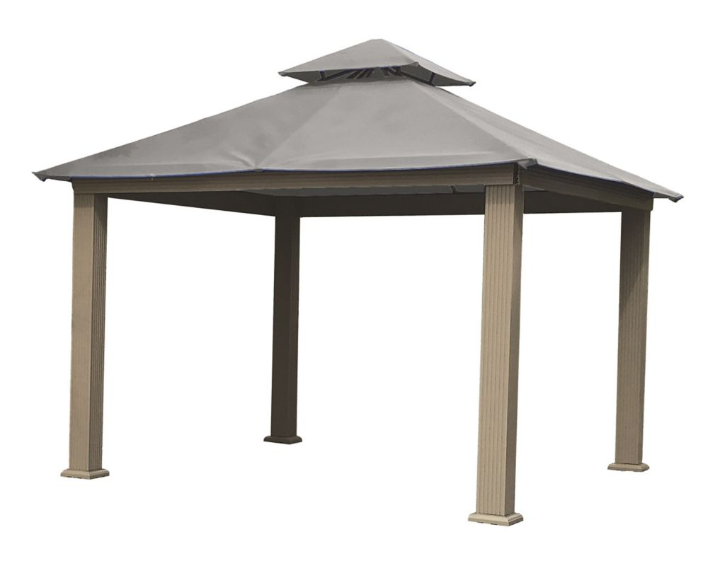 ACACIA 12 ft. Sq. Gazebo -Mist Gray