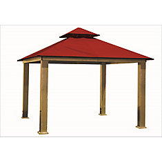 14 ft. Sq. Gazebo -Red