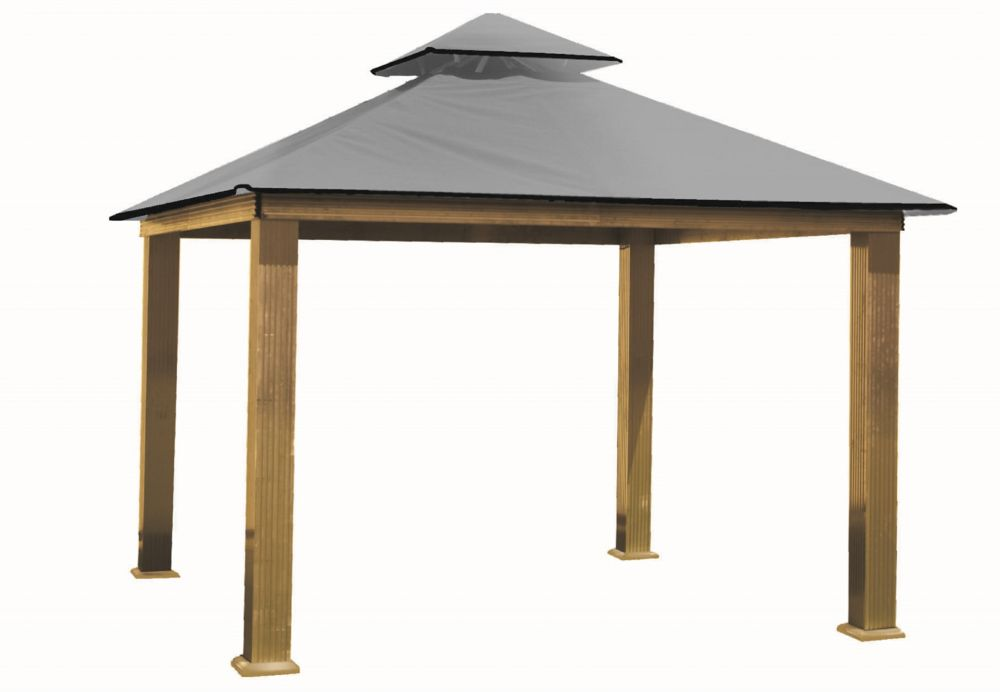 14 ft. Sq. Gazebo -Mist Gray