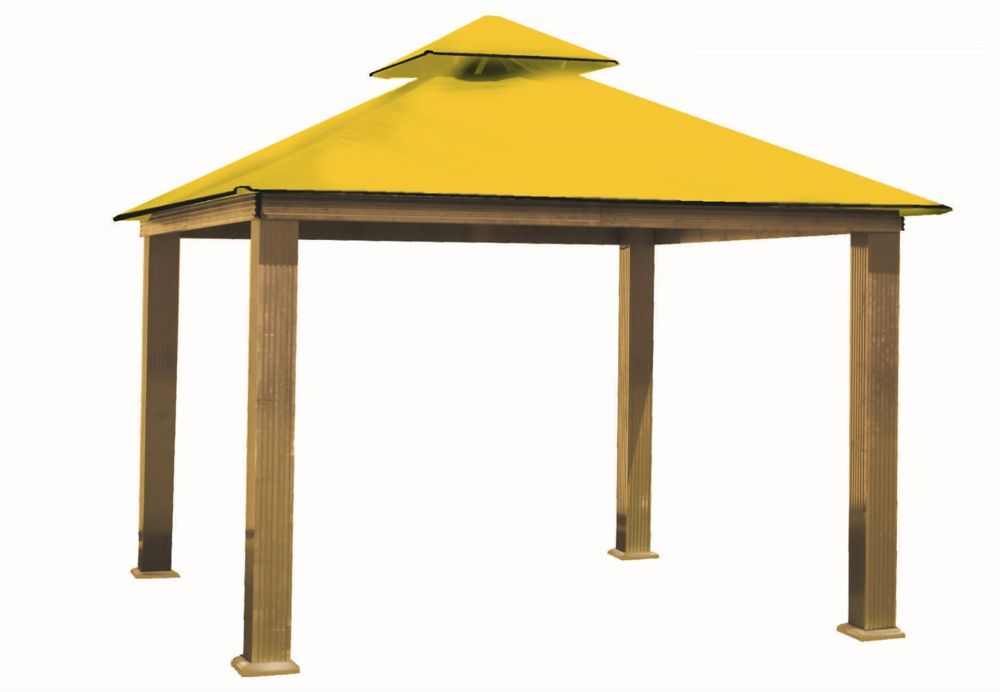 ACACIA 14 ft. Sq. Gazebo -Yellow