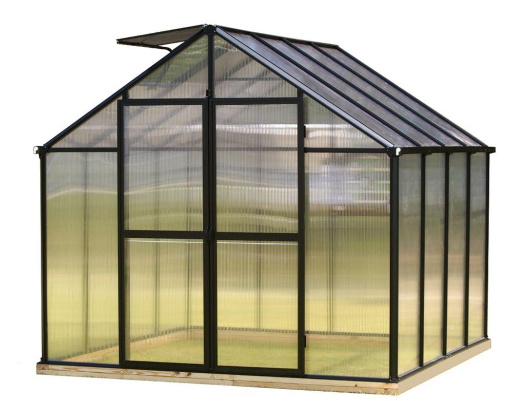 8 ft. X 8 ft. Black Greenhouse