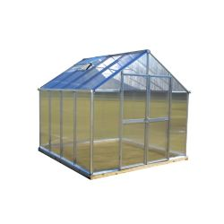 Monticello 8 ft. X 8 ft. Aluminum Greenhouse - Premium Package