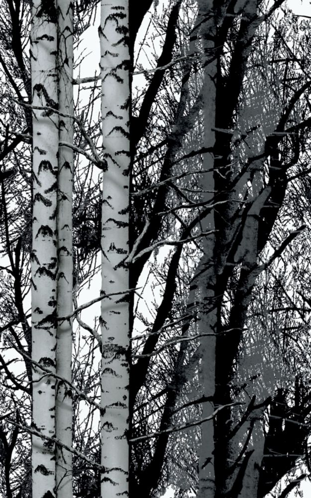 334-8028 Home Décor Premium Static Cling Window Film 26-inch x 59-inch Birch Woods - 1 Pack