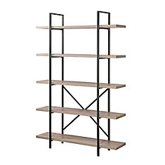 5-Tier Industrial Bookcase