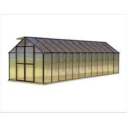 Monticello 8 ft. X 24 ft. Black Greenhouse - Premium Package