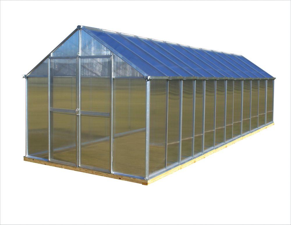 8 ft. X 24 ft. Aluminum Greenhouse - Premium Package
