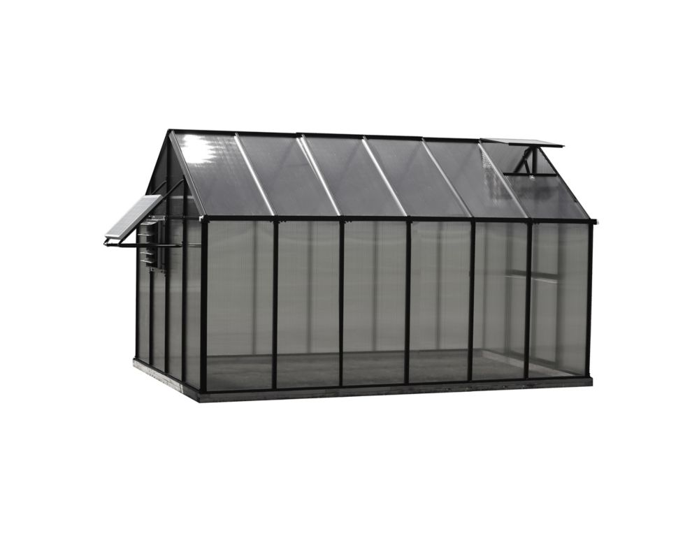 Monticello Greenhouse 8 ft. X 12 ft. Black Greenhouse - Mojave Edition