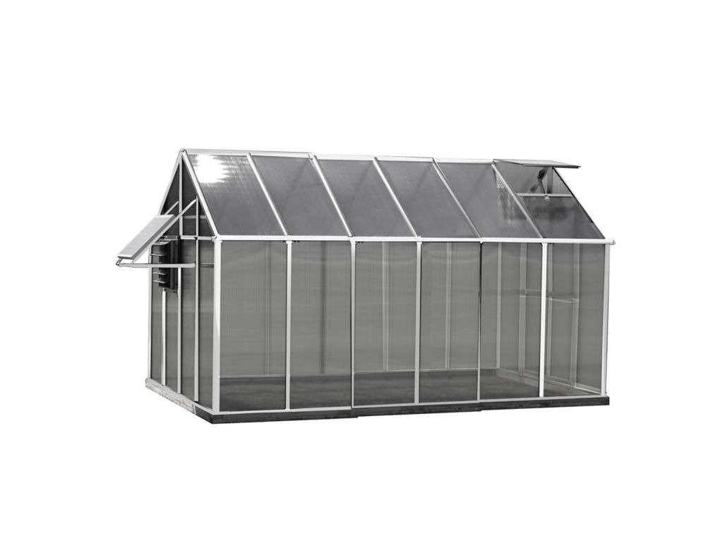 Monticello Greenhouse 8 ft. X 12 ft. Aluminum Greenhouse - Mojave Edition
