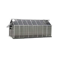 Monticello Greenhouse 8 ft. X 16 ft. Aluminum Greenhouse - Mojave Edition