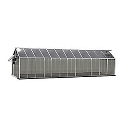 Monticello Greenhouse 8 ft. X 24 ft. Aluminum Greenhouse - Mojave Edition