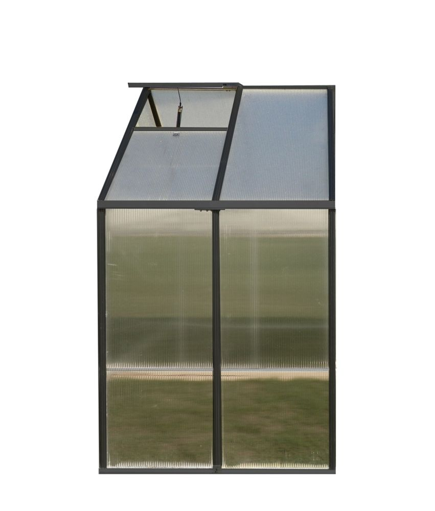 Monticello 8 ft. X 4 ft. Greenhouse Extension - Black