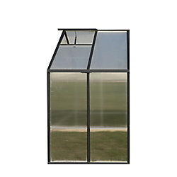 Monticello 8 ft. X 4 ft. Greenhouse Extension - Black (Premium)