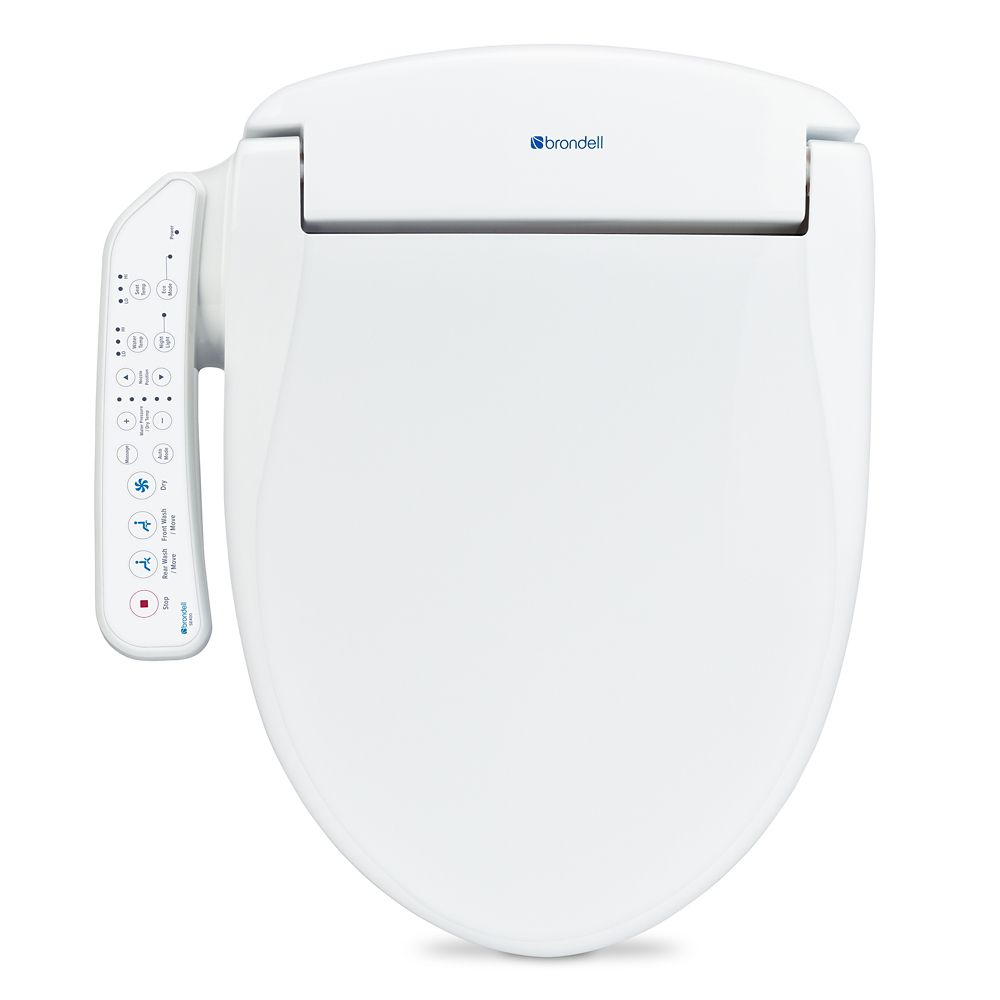 Brondell Swash SE400 Bidet Toilet Seat-Elongated, White