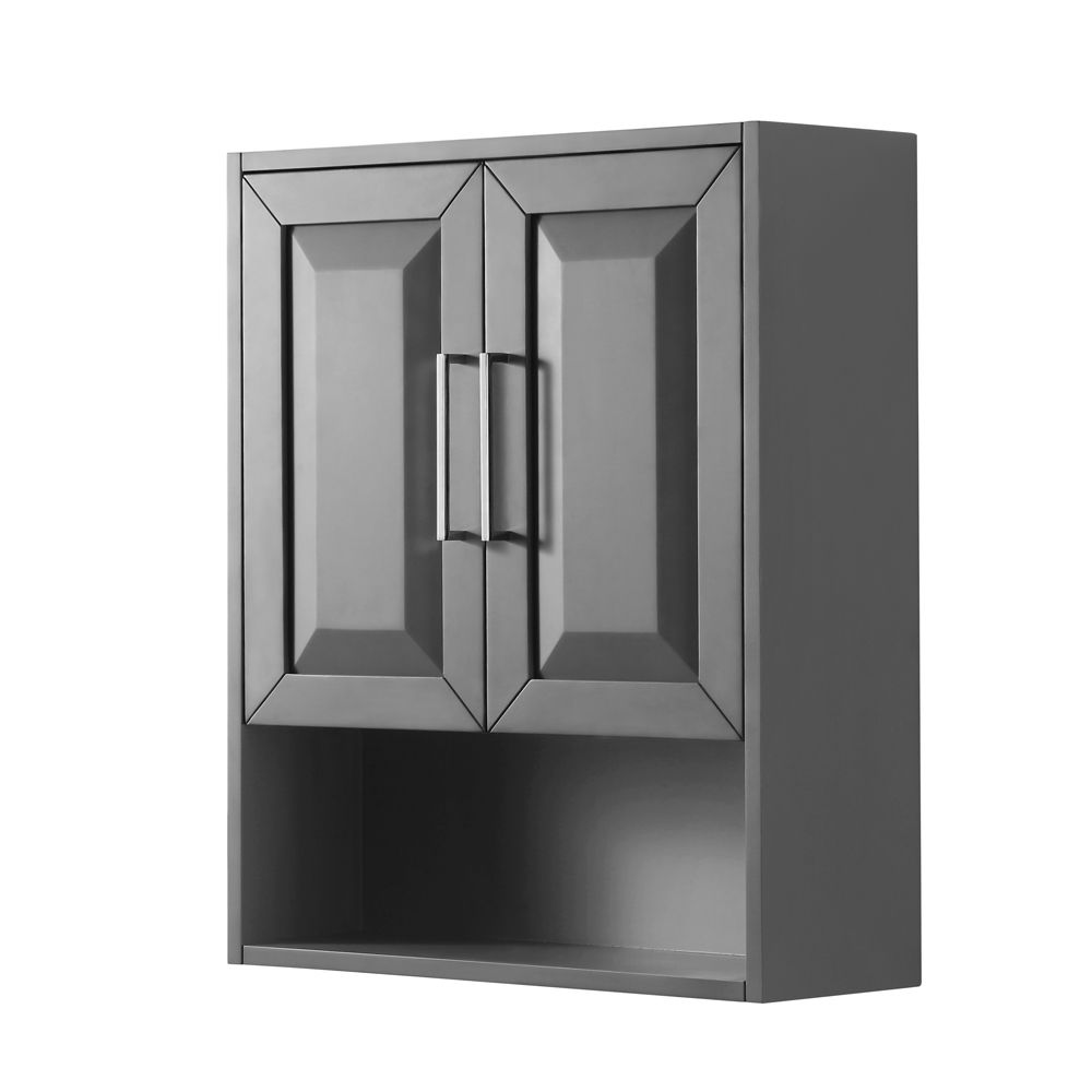 Daria Wall-Mounted Storage Cabinet in Dark Gray