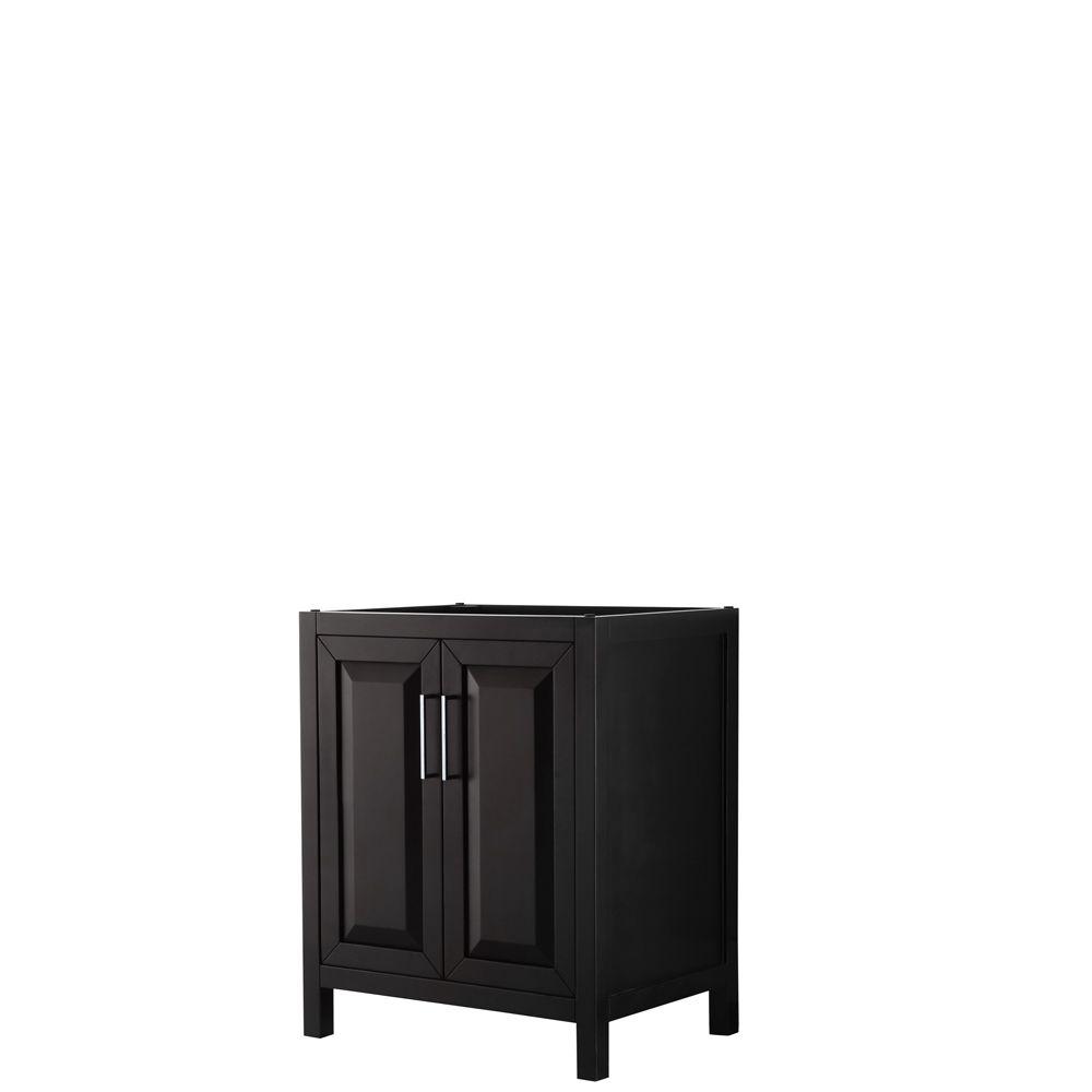 Daria 30 inch Single Vanity in Dark Espresso, No Top, No Sink, No Mirror