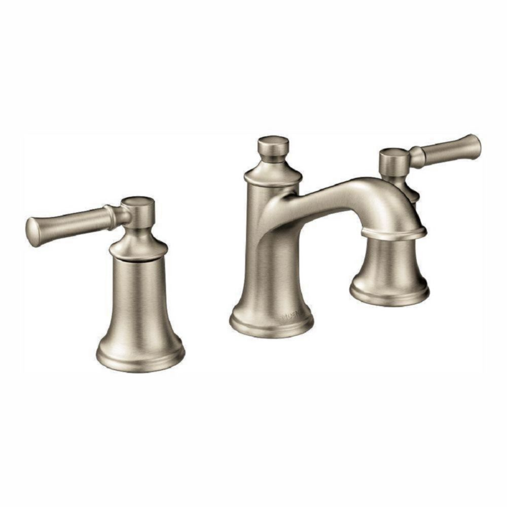 Dartmoor Brushed Nickel Two-Handle High Arc Bathroom Faucet (Valve Sold Separately)