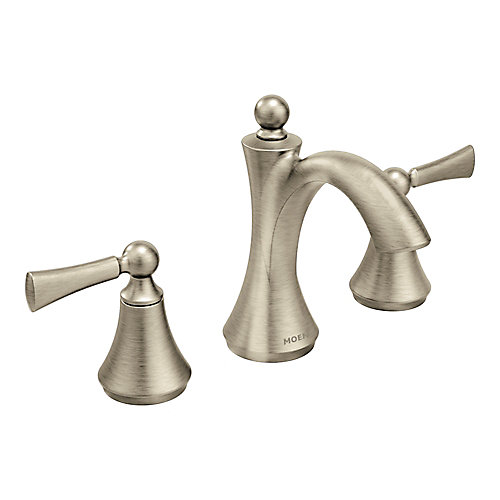 Wynford Two-Handle High Arc Bathroom Faucet in Brushed Nickel (Valve Sold Separately)