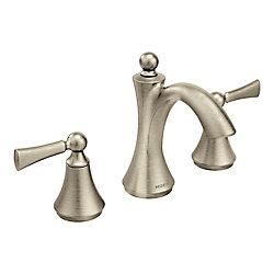 Robinet de salle de bains Wynford à deux poignées en nickel brossé à arc élevé (robinet vendu séparément)