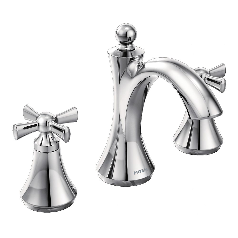 Wynford Two-Handle High Arc Bathroom Faucet in Chrome (Valve Sold Separately)
