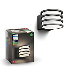 Hue White Lucca Outdoor Wall Light - Black Finish