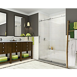 Aston Coraline 56-inch to 60-inch x 76-inch Frameless Sliding Shower Door in Chrome