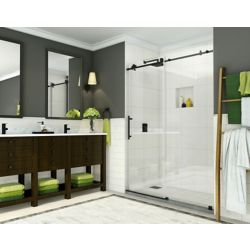 Aston Coraline 44-inch to 48-inch x 76-inch Frameless Sliding Shower Door in Oil Rubbed Bronze