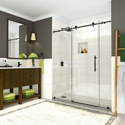 Aston Coraline 68 inch to 72 inch x 76 inch Frameless Sliding Shower Door in Oil Rubbed Bronze