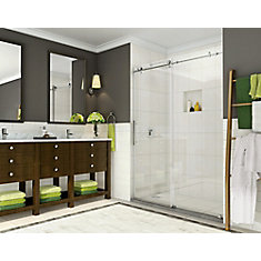 Coraline 44-inch to 48-inch x 76-inch Frameless Sliding Shower Door in Stainless Steel