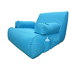 Ove Decors Miami Blue Inflatable Lounge Pool Float