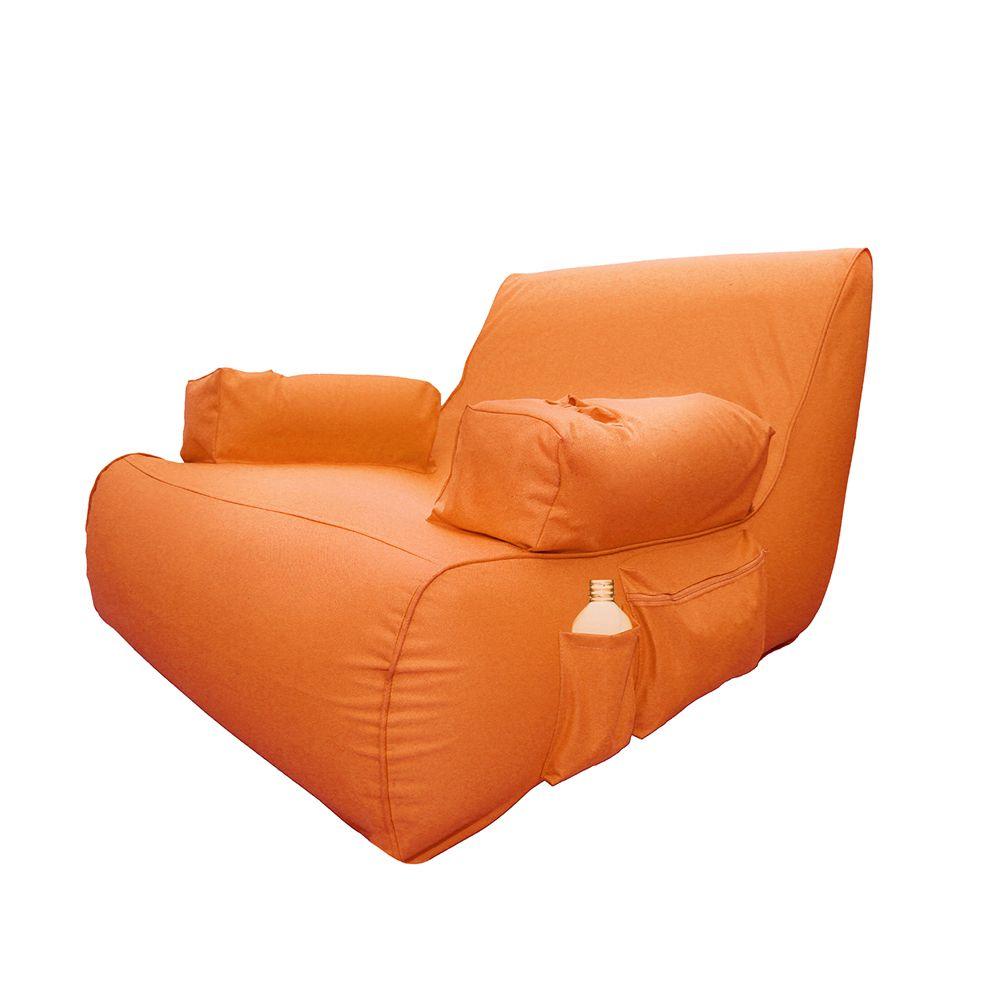 Miami Orange Inflatable Lounge Pool Float