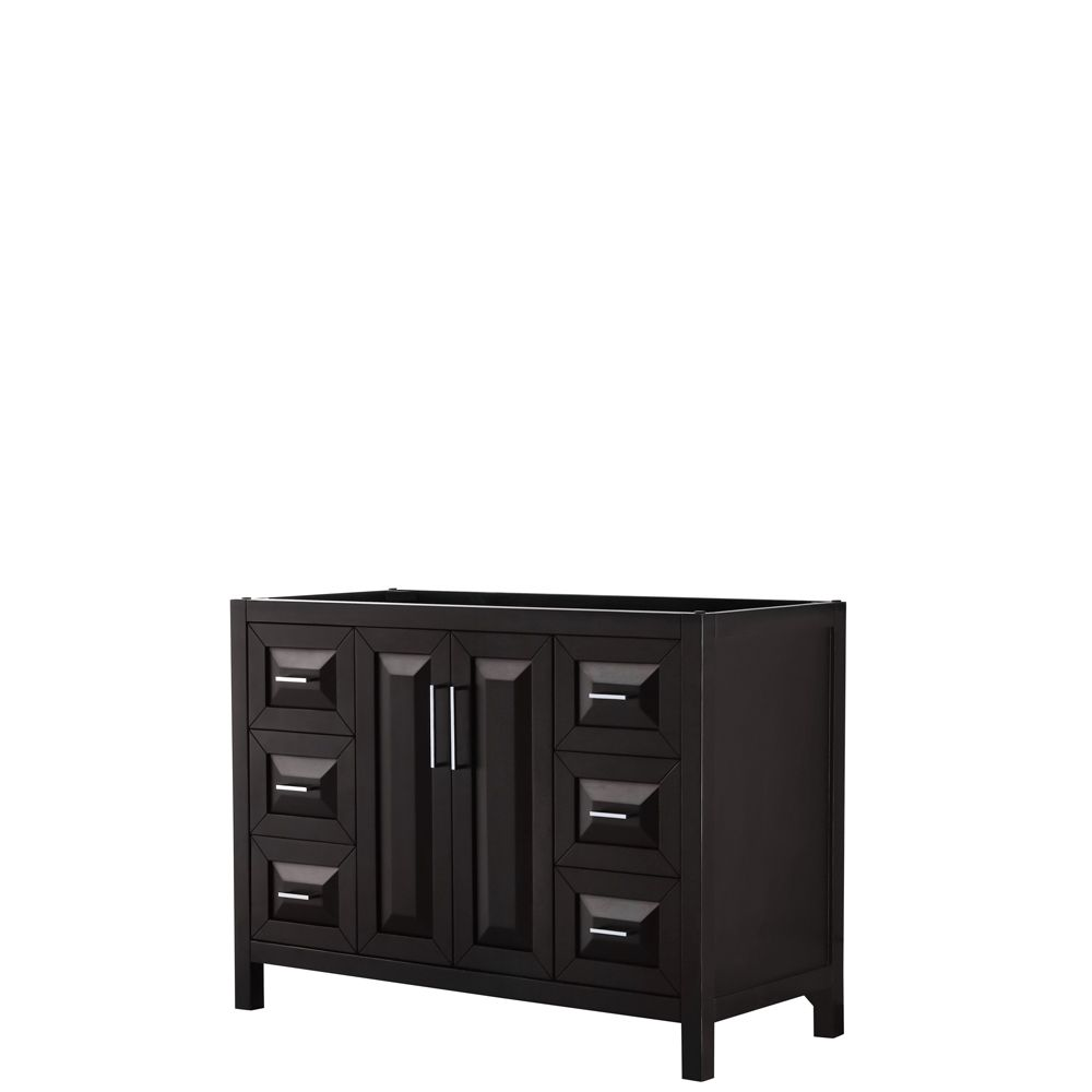 Daria 48 inch Single Vanity in Dark Espresso, No Top, No Sink, No Mirror