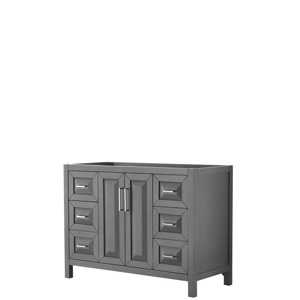 Daria 48 inch Single Vanity in Dark Gray, No Top, No Sink, No Mirror