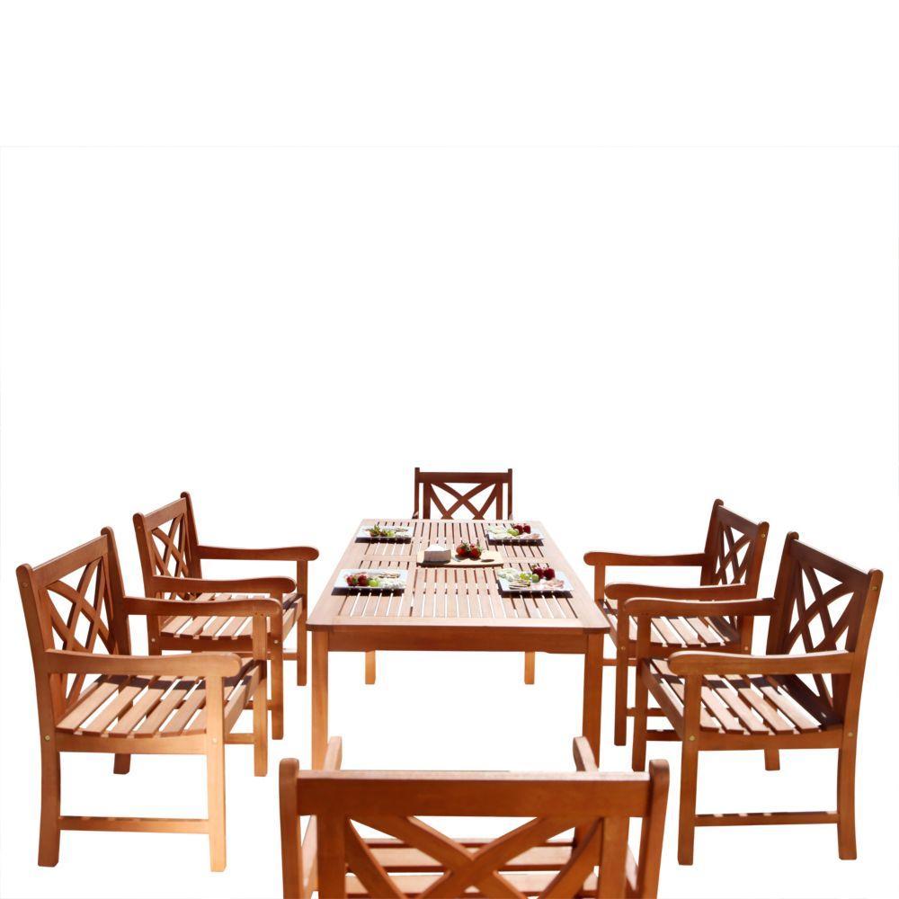 Malibu Patio 7-piece Wood Dining Set V98SET13