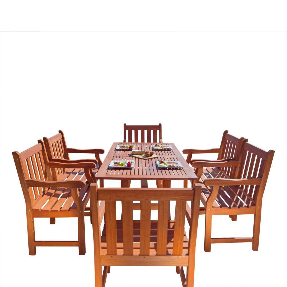 Malibu Patio 7-piece Wood Dining Set V187SET24