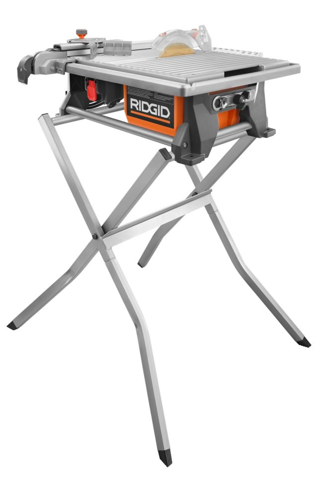 Ridgid 7 Inch Portabletable Top Wet Tile Saw With Stand And Bonus