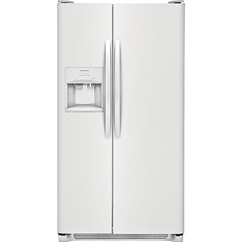 22.1 Cu. Ft. Side-by-Side Refrigerator - White