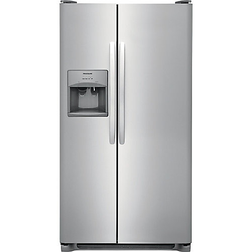25.6 cu. ft. Side-by-Side Refrigerator - stainless steel