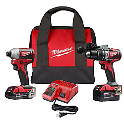 M18 18V Lithium-Ion Brushless Cordless Hammer Drill/Impact Combo Kit (2-Tool) with 2 Batteries