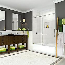 Aston Coraline 56-inch to 60-inch x 60-inch Frameless Sliding Tub Door in Chrome