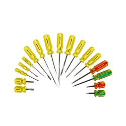 Fuller Screwdriver Set with Golden Grip Handle (17-Piece)