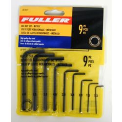 Fuller High-Strength Alloy Metric Hex Key Set (9-Piece)