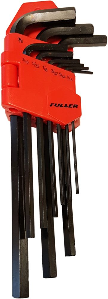 9-piece Long Arm SAE Hex Key Set with Holder
