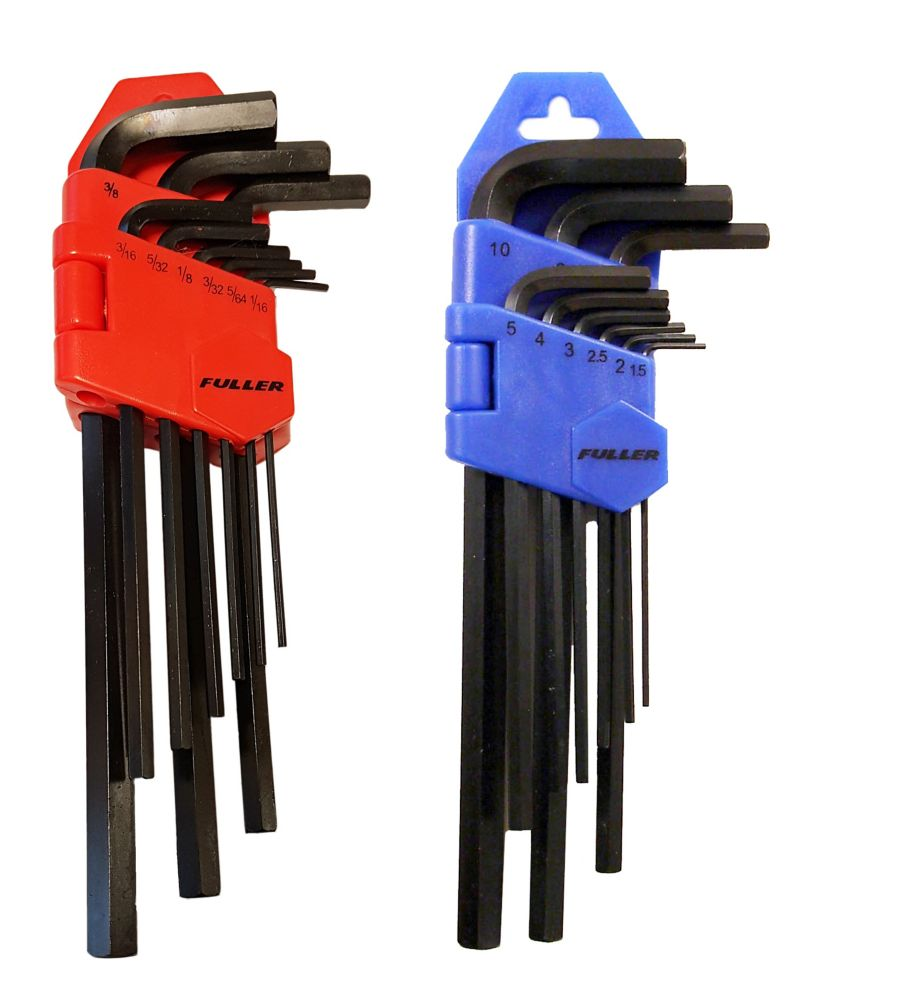 Fuller Pro Series 22-Piece Twin-Pack SAE and Metric Hex Key Sets