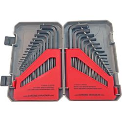 Fuller 30-Piece Set of SAE and Metric Hex Keys in a Handy Storage Case