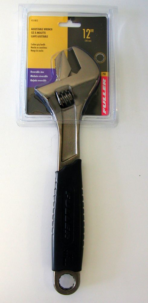 Fuller Pro Series 12-inch Adjustable Wrench with Slim-Profile Head